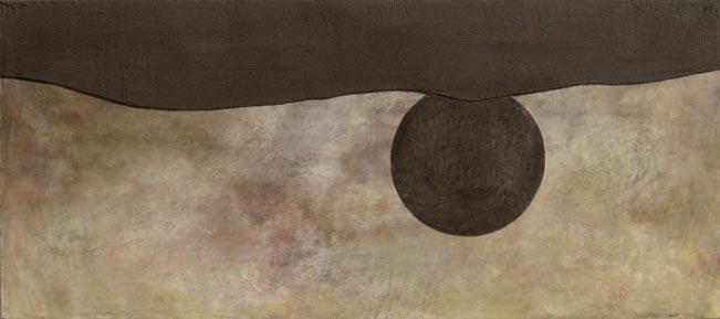 fresco technique. Abstract landscape