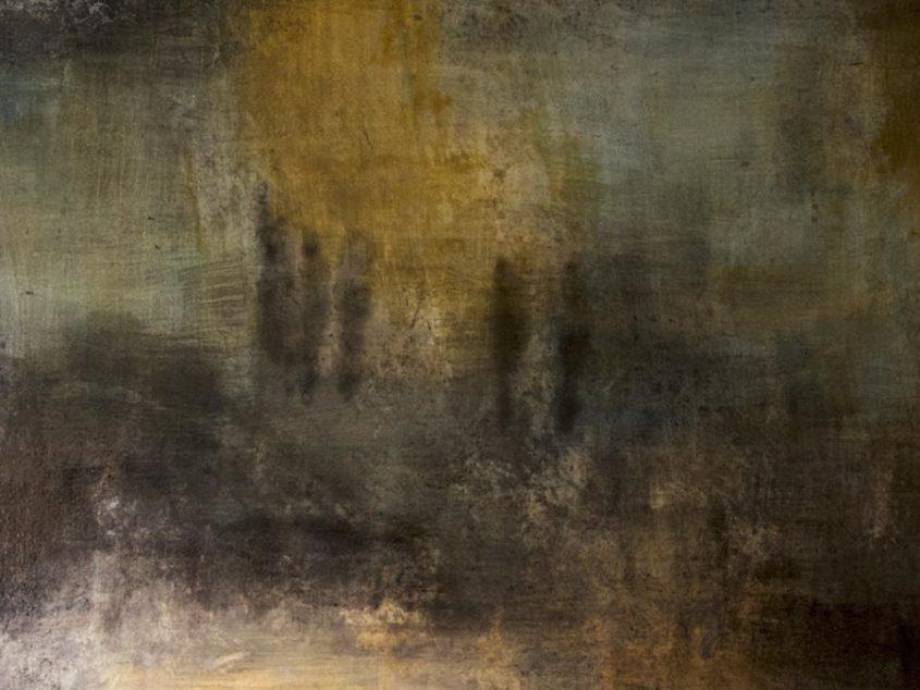 Fresco Landscape Painting - Close Up