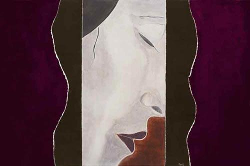 Little Sister / Fresco Portrait / 120 x 80cm